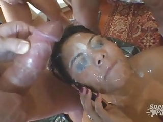 Spanish Bukkake Facial