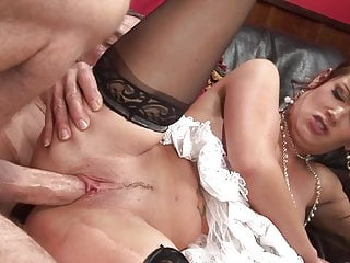 Dick the tits brunette milf hard...