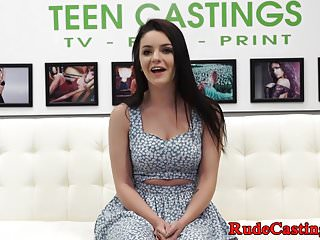 Facialized teen gets fucked at casting