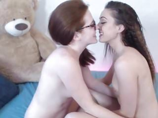 Sexy hot lesbians licking each others pussy...