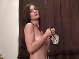 Skinny MILF bating her old wet cunt
