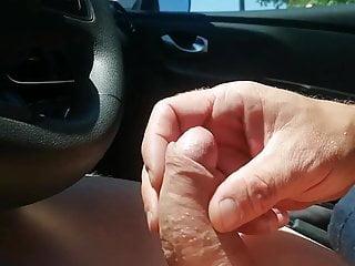 good masturbation in the car and cum