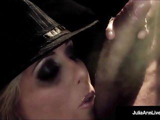 Milf star julia ann gives a smokin bj...