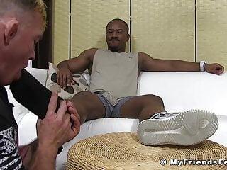 Muscular tattoed until he shoot jizz...