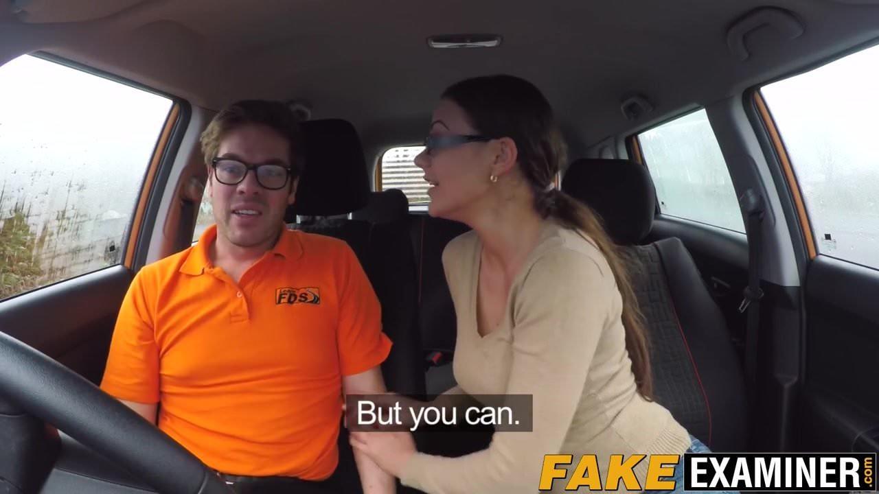 Lesbian Fake Driving Test