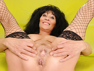 enjoys every Squirting moment Granny