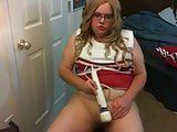Crossdress Cheerleader Hitachi Cum!