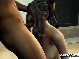 Fucking Sucking Vixen in Lingerie and 3D