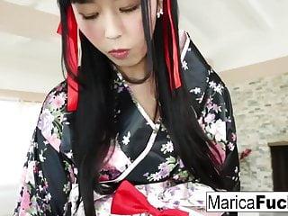 Geisha Marica takes on big black cock!