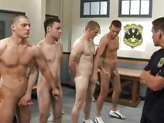 Jet set men police academy gangbang
