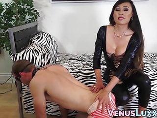 Asian tgirl dominates cocksucking stud creampie...