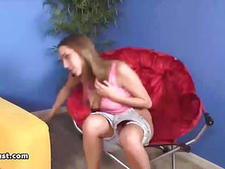 Hot teen vibrating...