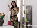 Adele Siemens gets sexy while stripping naked