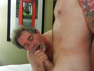 Hot Daddy Young Sucks A Cock