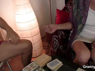 Petite blonde grandma spreads legs for him