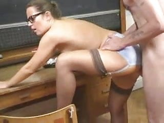 British Busty Alexis May gets fucked as a teacher