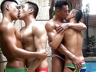 Asian speedo foursome...