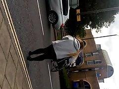 Pantyhose woman candid