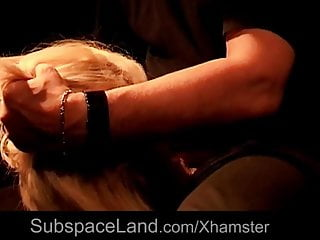 Romanian blonde bdsm used in a dark basement