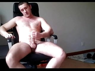 Hot hunk masturbates and cums on peppers
