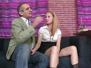 Russian Blonde Fucks Teacher Tricky Old a Student