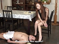 Japanese Dominatrix Risa Food Crush Messy