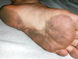 my gf's dirty feet