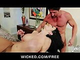 Cock Hungry slut Alektra Blue is fucked hard by her dirty ma