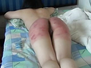 Wife brutally spanked on bed...