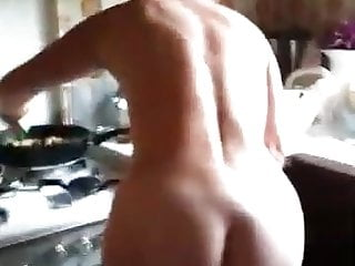 Corinne totally naked cooking