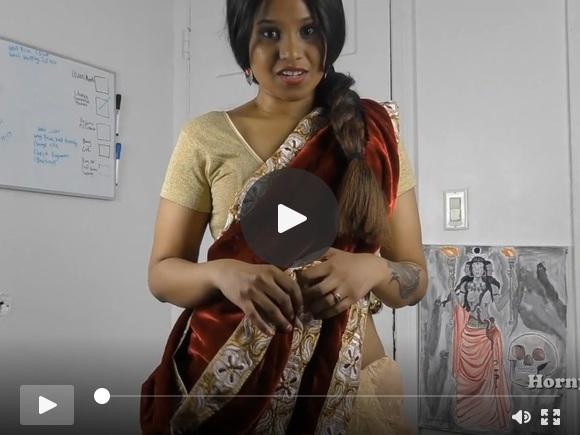 तमिल में हॉर्नसाउथ भारतीय बहन कानून भूमिका में