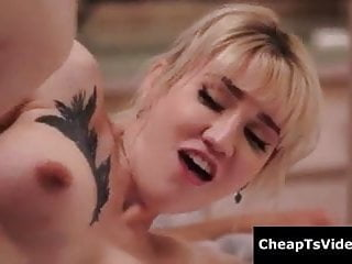 Sexy blonde covered in sexy tats t...