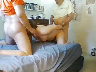 Two married str8 southern daddies fuck slut