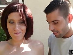 Margaux takes anal outdoor