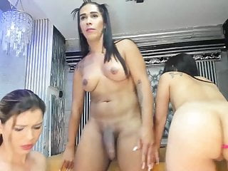 Hot cougars had a taste ts cock...