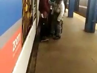 Homeless, Exhib, Voyeur, Blowjob in Train Station.