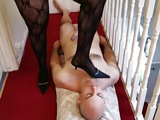 British mistress domianating her slave