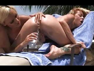 Two hot lesbians outdoor sex