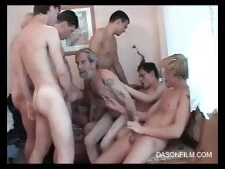 5 boys fuck grandpa