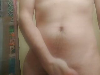 Pent up moaning messy cumshot...
