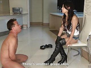 and CFNM Japanese Satomi Boot Slave Fetish