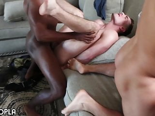 5 guys fuck each other orgy cumshot