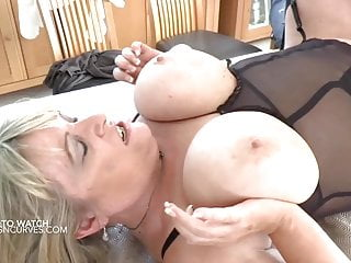 Busty old lover makes her husband watch being fucked