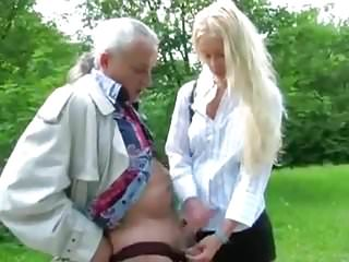 French girl wanks old man 039 cock...