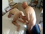 grandpa and young guy play