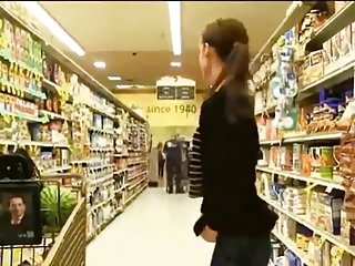Supermarket flash girl