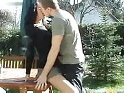 German Couple Garden Sex