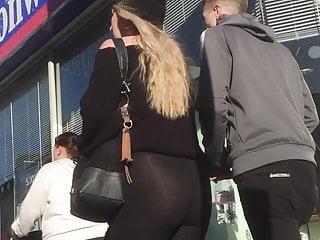 UK Candid Teen See Through Leggings Creepshot