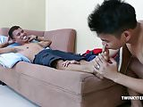 Twinks Rico and Alex Foot Fetish Raw Fuck