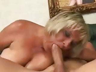 Blonde Mature Gets That Cock